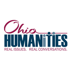 Ohio Humanities Logo with people as the two letter i and the letter t. Real Issues. Real Conversations.